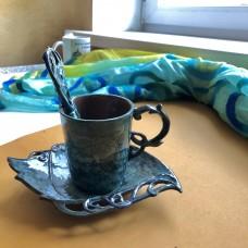 Чайная пара керамическая