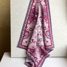 Татарский платок с орнаментом пыльно-розовый