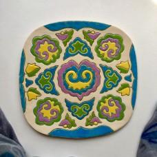 Тарелка с татарской росписью