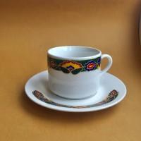 Чашка и блюдце с татарским узором