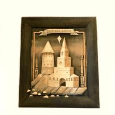 """Картина объемная из дерева """"Спасская башня"""""""