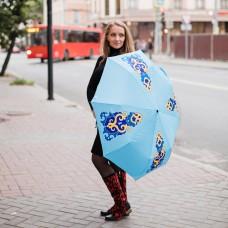 Зонт с татарским узором голубой