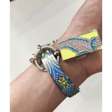Комплект: браслет и флешка металлические