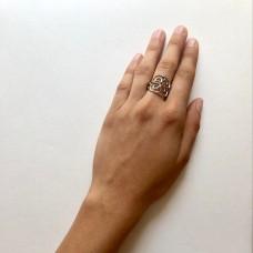 Кольцо серебряное (орнамент)