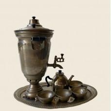 Самовар миниатюрный с чашками