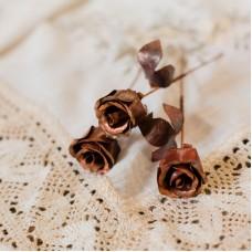 Роза металлическая 17,5 см