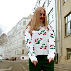 Свитшот с татарским орнаментом белый