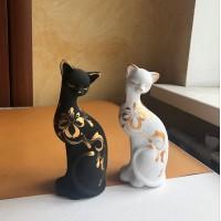 Кот из глины 19 см