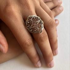 Кольцо серебряное 19,5