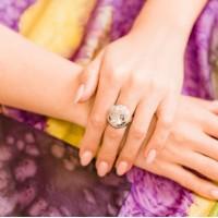 Кольцо серебряное круглое 18
