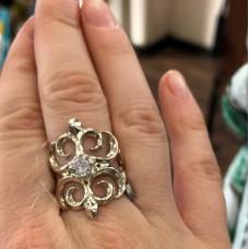 Кольцо серебряное 17,5