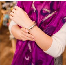 Шарф из шелка и войлока фиолетовый