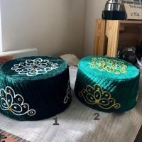 Тюбетейка зеленая с вышивкой 57