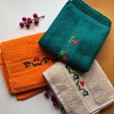Полотенце махровое с вышивкой 40:70 см