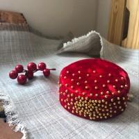 Тюбетейка женская красная