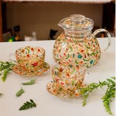 Чайный сервиз с татарским узором