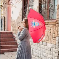 Зонт-трость с татарским узором красный